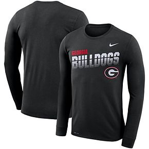 Men's Nike Black Georgia Bulldogs Sideline Legend Long Sleeve Performance T-Shirt