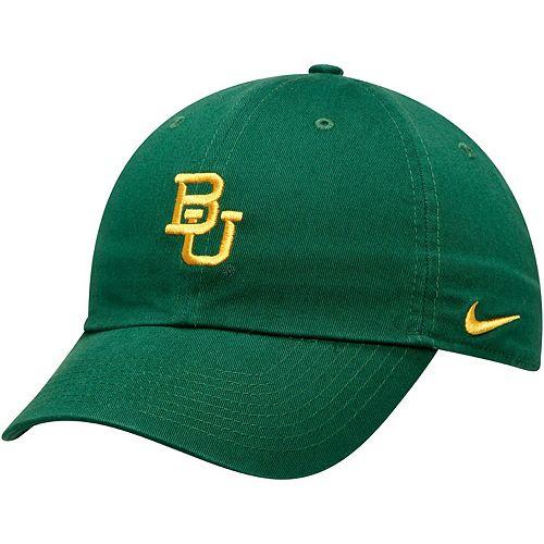 Men's Nike Green Baylor Bears Heritage 86 Team Logo Performance Adjustable Hat