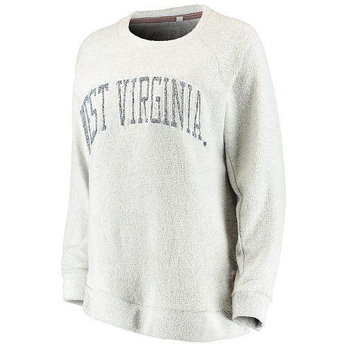 Women's Pressbox Gray West Virginia Mountaineers Helena Comfy Sweatshirt