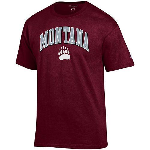 Men's Champion Maroon Montana Grizzlies Arch Over Logo T-Shirt