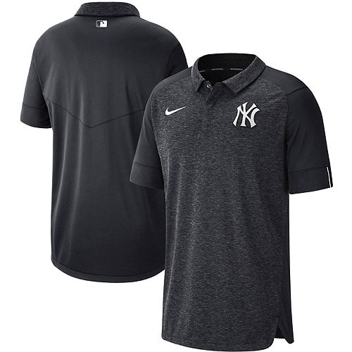 Men's Nike Navy New York Yankees Authentic Collection Team Logo Elite Polo