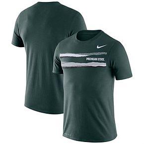 Men's Nike Green Michigan State Spartans Performance Cotton Mezzo T-Shirt