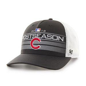 Men's '47 Black Chicago Cubs 2018 Postseason Official On Field Altitude Adjustable Hat