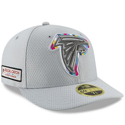 Men's New Era Gray Atlanta Falcons Crucial Catch Low Profile 59FIFTY Fitted Hat