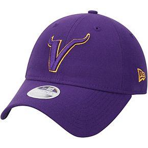 Women's New Era Purple Minnesota Vikings Ligature 9TWENTY Adjustable Hat