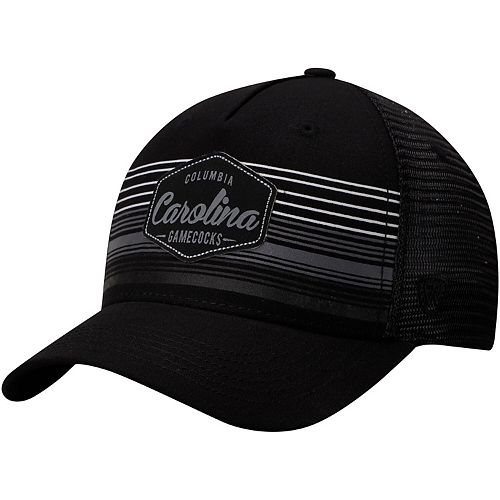 Men's Top of the World Black South Carolina Gamecocks Frequency Trucker Adjustable Hat