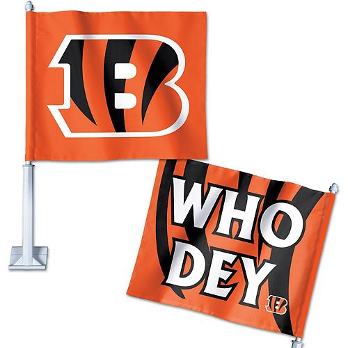 WinCraft Cincinnati Bengals Double-Sided Slogan Car Flag