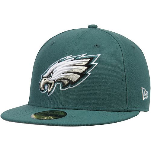 Men's New Era Midnight Green Philadelphia Eagles Omaha 59FIFTY Fitted Hat