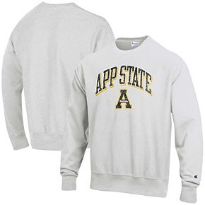 Men's Champion Gray Appalachian State Mountaineers Arch Over Logo Reverse Weave Pullover Sweatshirt