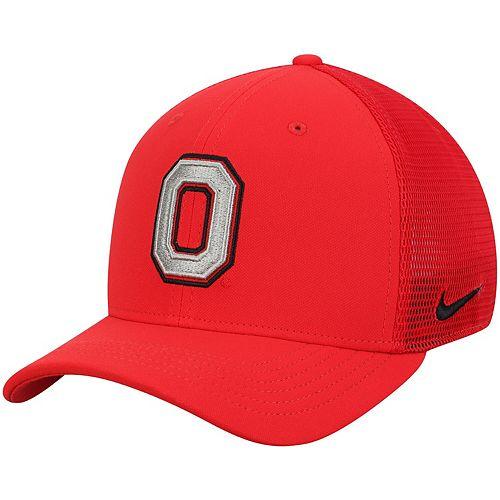 Men's Nike Scarlet Ohio State Buckeyes Performance Meshback Swoosh Flex Hat