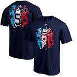 Men's Majestic Freddie Freeman Navy Atlanta Braves 2019 Spring Training Name & Number T-Shirt
