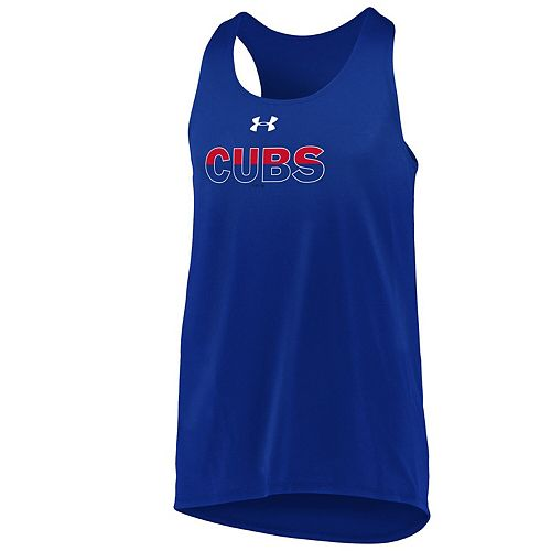 Girls Youth Under Armour Royal Chicago Cubs Big Time Fan Tank Top