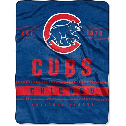"""The Northwest Company Chicago Cubs 60"""" x 80"""" Backstop Silk Touch Throw Blanket"""
