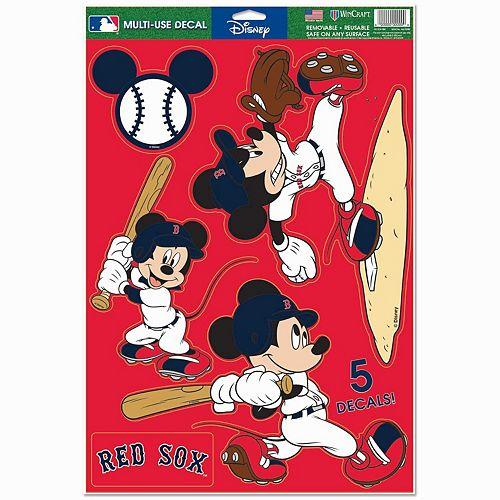 "WinCraft Boston Red Sox 11"" x 17"" Multi-Use Disney Decals"