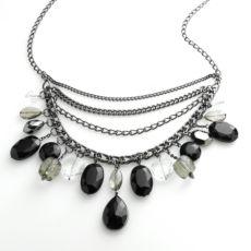 apt 9 jet tone beaded necklace