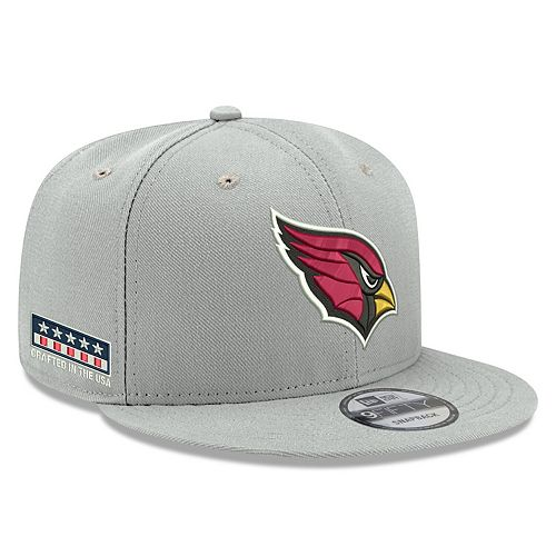 Men's New Era Gray Arizona Cardinals Crafted in the USA 9FIFTY Adjustable Hat