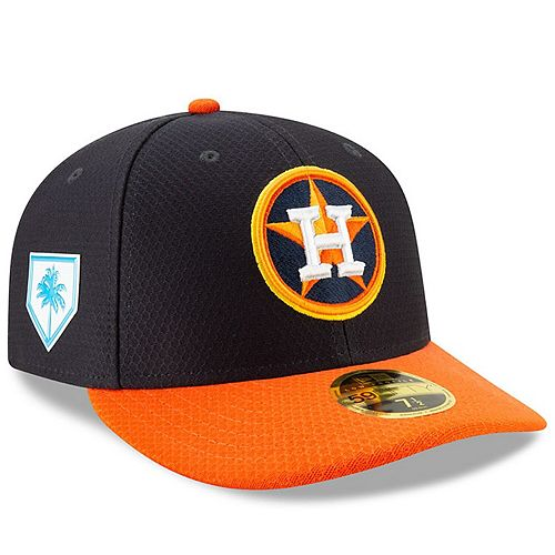 Men's New Era Navy/Orange Houston Astros 2019 Spring Training Low Profile 59FIFTY Fitted Hat