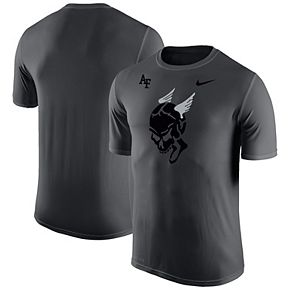Men's Nike Anthracite Air Force Falcons AC-130 Spectre Legend Performance T-Shirt