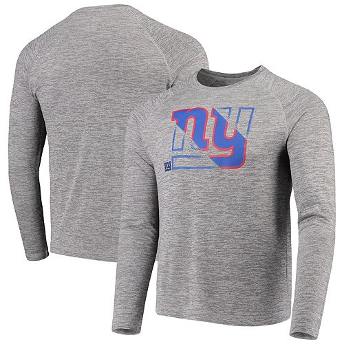 Men's NFL Pro Line by Fanatics Branded Heathered Gray New York Giants Iconic Vital to Success Synthetic Long Sleeve Raglan T-Shirt