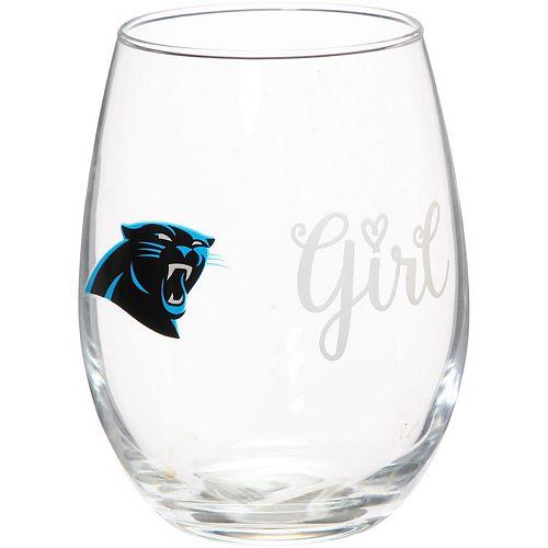 Carolina Panthers 15oz. Girl Stemless Tumbler