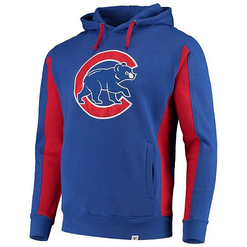 Men's Fanatics Branded Royal/Red Chicago Cubs Team Logo Iconic Fleece Pullover Hoodie