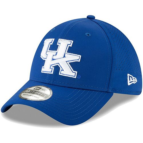 Men's New Era Royal Kentucky Wildcats Perforated Play 39THIRTY Flex Hat