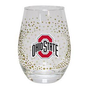 Ohio State Buckeyes Glitter Stemless Tumbler