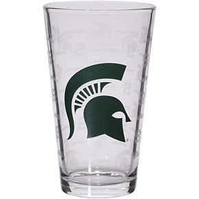 Michigan State Spartans 16oz. Sandblasted Mixing Glass