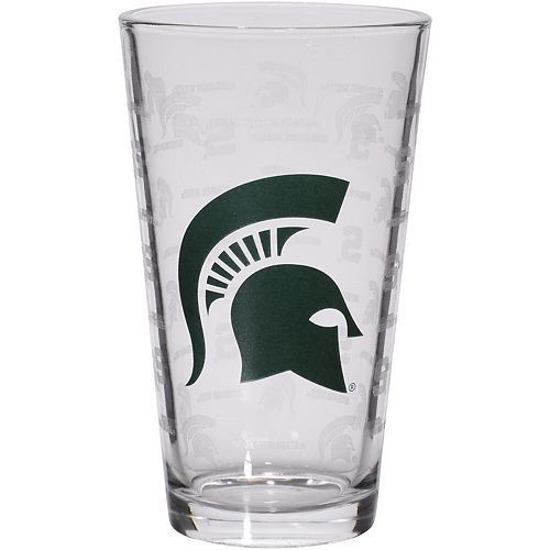 Michigan State Spartans 16oz. Sandblasted Mixing Glass