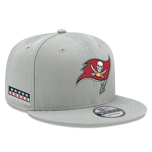 Men's New Era Gray Tampa Bay Buccaneers Crafted in the USA 9FIFTY Adjustable Hat