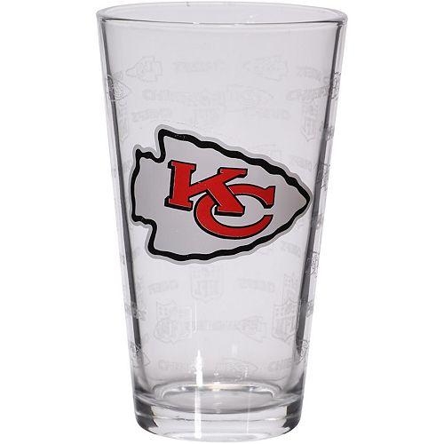 Kansas City Chiefs 16oz. Sandblasted Mixing Glass