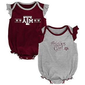 Girls Infant Maroon/Gray Texas A&M Aggies Homecoming 2-Pack Bodysuit Set