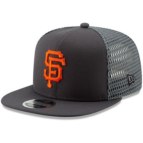 Men's New Era Graphite San Francisco Giants Mesh Fresh 9FIFTY Adjustable Snapback Hat