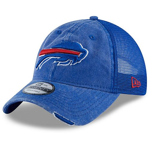 Men's New Era Royal Buffalo Bills Tonal Washed 2 Trucker 9TWENTY Adjustable Hat