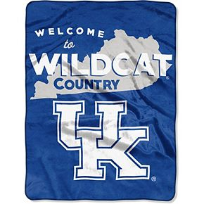 """The Northwest Company Kentucky Wildcats 60"""" x 80"""" Welcome Silk Touch Throw Blanket"""