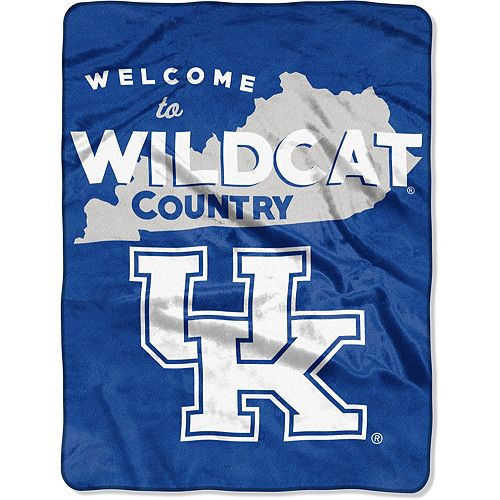 "The Northwest Company Kentucky Wildcats 60"" x 80"" Welcome Silk Touch Throw Blanket"