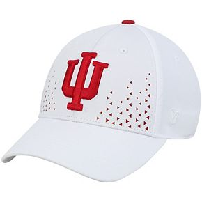 Men's Top of the World White Indiana Hoosiers Spectra Flex Hat