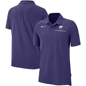 Men's Nike Purple Kansas State Wildcats 2019 Elite Coaches Sideline Polo