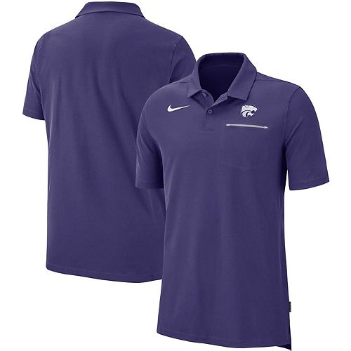 Men's Nike Purple Kansas State Wildcats 2019 Elite Coaches Sideline Polo