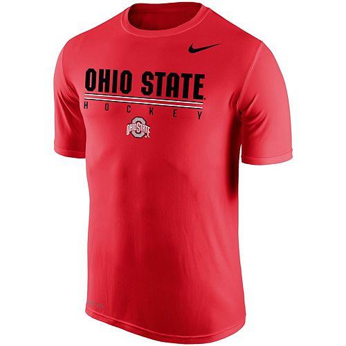 Men's Nike Scarlet Ohio State Buckeyes Hockey Drop Legend Performance T-Shirt