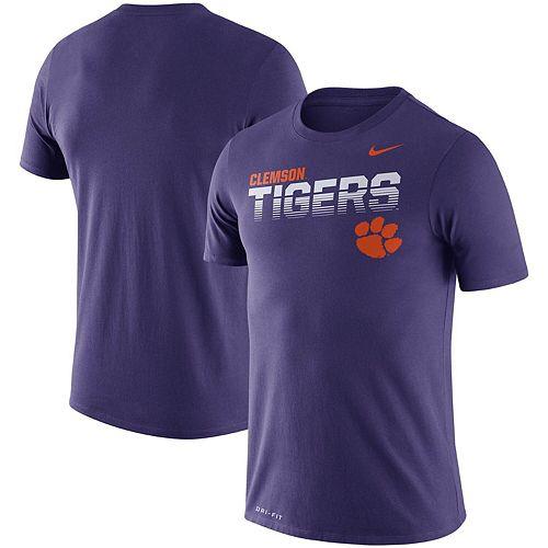 Men's Nike Purple Clemson Tigers Sideline Legend Performance T-Shirt