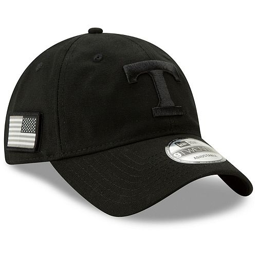 Men's New Era Black Tennessee Volunteers Stealth 9TWENTY Adjustable Hat