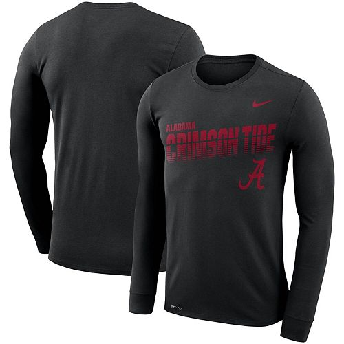 Men's Nike Black Alabama Crimson Tide Sideline Legend Long Sleeve Performance T-Shirt