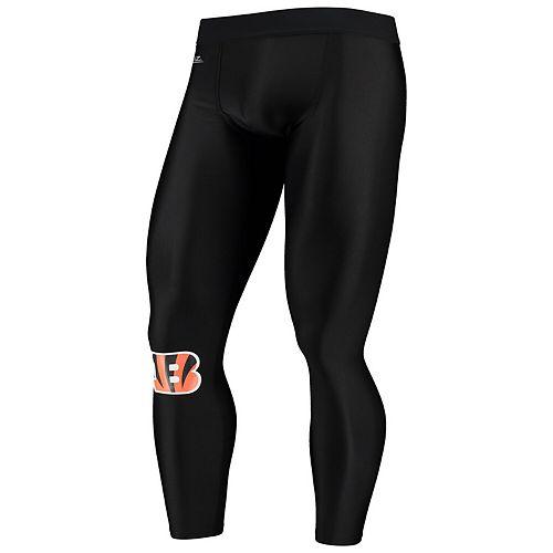 Men's Zubaz Black Cincinnati Bengals Speed Leggings