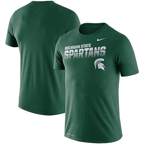 Men's Nike Green Michigan State Spartans Sideline Legend Performance T-Shirt