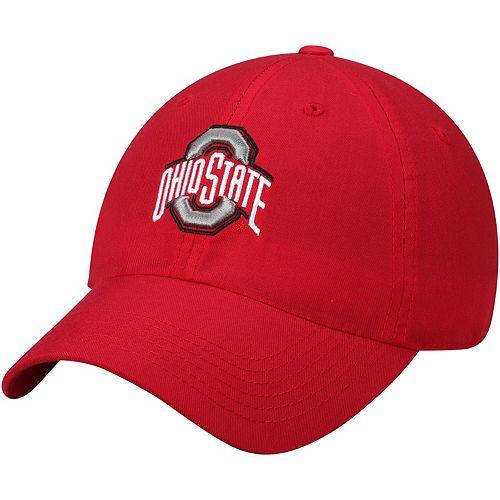 Men's Top of the World Scarlet Ohio State Buckeyes Primary Logo Staple Adjustable Hat