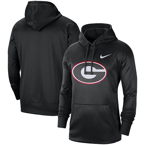 Men's Nike Black Georgia Bulldogs Circuit Logo Performance Pullover Hoodie