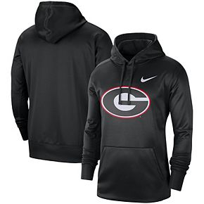 Men's Nike Black Georgia Bulldogs Circuit Logo Performance Pullover Hoodie