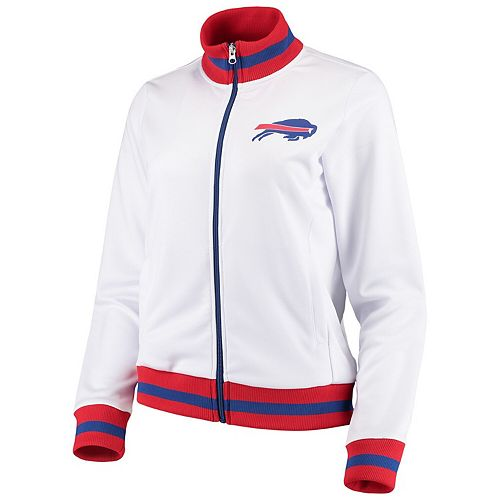 Women's G-III 4Her by Carl Banks White Buffalo Bills Field Goal Track Jacket