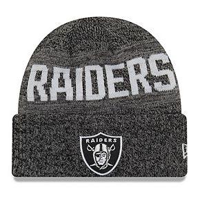 Youth New Era Black Oakland Raiders Crisp Color Knit Cuffed Hat